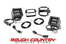Rough Country 70623 2-inch Black Series CREE LED Fog Light Kit (07-18 Wrangler JK)