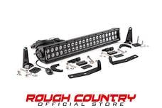 Rough Country 70645 20-inch Black Series Dual Row CREE LED Light Bar & Hidden Bumper Mounts Kit