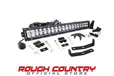 Rough Country 70646 20-inch Chrome Series Dual Row CREE LED Light Bar & Hidden Bumper Mounts Kit