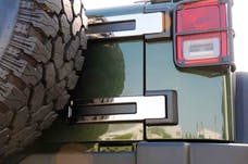 T-Rex Grilles 10485 T1 Exterior Trim, Polished, Stainless Steel, 2 Pc, Tape