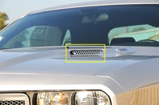 T-Rex Grilles 11416 T1 Hood Scoop, Polished, Stainless Steel, 2 Pc, Bolt-On