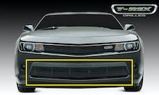 T-Rex Grilles 25031B Billet Bumper Grille, Black, Aluminum, 1 Pc, Overlay