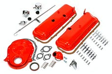 Trans Dapt Performance 3056 1965-95 BB CHEVROLET 396-454 ENGINE KIT WITH PCV- CHEVY ORANGE POWDER-COATED