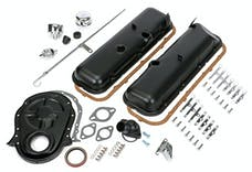 Trans Dapt Performance 3060 1965-95 BB CHEVROLET 396-454 ENGINE KIT WITHOUT PCV- ASPHALT BLACK POWDER-COATED