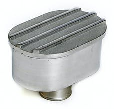 """Trans Dapt Performance 6617 Finned Aluminum Push-In Breather; Fits Covers With 1.25"""" Holes- Polished/Satin"""