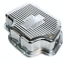 Trans Dapt Performance 9106 CHROME STEEL EXTRA CAPACITY TRANSMISSION PAN; FINNED; GM TURBO 400