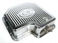 Trans Dapt Performance 9109 CHROME STEEL EXTRA CAPACITY TRANSMISSION PAN; FINNED; FORD C6