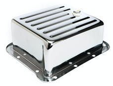 Trans Dapt Performance 9110 CHROME STEEL EXTRA CAPACITY TRANSMISSION PAN; FINNED; FORD C4