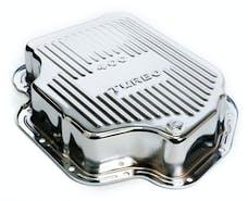 "Trans Dapt Performance 9197 TH400-CHROME Transmission Pan; Extra Capacity (+1.5 Qt); 3"" Depth; FINNED"