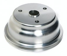 Trans Dapt Performance 9484 CRANKSHAFT Pulley; 1 Groove; CHEVROLET 283-350;LONG W/P-Machined ALUMINUM