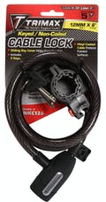 """Trimax TNKC126 Medium Security with Bracket Non-Coiled 72"""" X 12mm"""