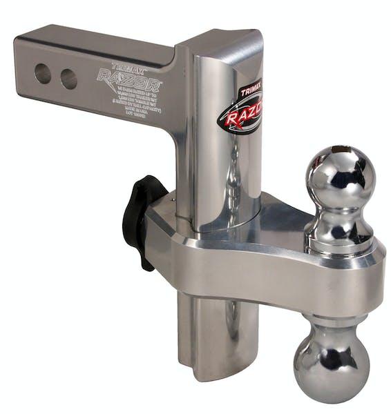 "Trimax TRZ8AL 8"" Aluminum Drop Hitch - Dual Hitch Ball Included"