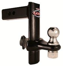 """Trimax TRZ8PB 8"""" Black Powder Coat Forged Steel Adjustable Drop Hitch"""