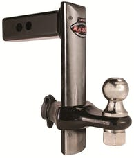 """Trimax TRZ8SFP 8"""" Forged with Stainless Steel Face Plate Adjustable Drop Hitch"""