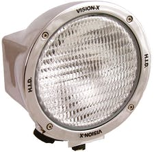 "Vision X 4003347 6.7"" Round 35 Watt HID Flood Beam Lamp"