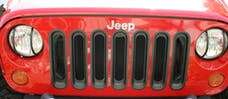 Outland Automotive 391130630 Grille Inserts, Black; 07-16 Jeep Wrangler JK