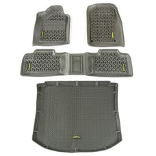 Outland Automotive 391498826 Floor Liners, Kit, Gray; 11-16 Jeep Grand Cherokee WK