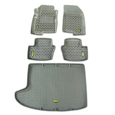 Outland Automotive 391498827 Floor Liners, Kit, Gray; 07-16 Jeep Compass/Patriot MK