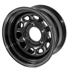 Outland Automotive 391550010 D Window Wheel, 15x8, Black, 5x5.5