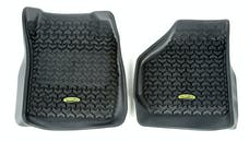 Outland Automotive 398290207 Floor Liners, Front, Black; 99-07 Ford F-250/F-350