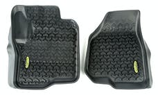Outland Automotive 398290230 Floor Liners, Front, Black; 12-16 Ford F-250/F-350 Pickup
