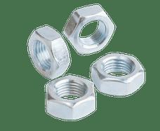 "QA1 JNL6S Jam Nut, Steel 3/8-24 LH 9/16"" Hex, 7/32"" Wide"
