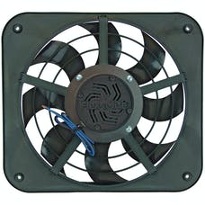 "Flex-A-Lite 115 Fan Electric 12"" single shrouded X-treme S-blade pusher or puller w/ controls"