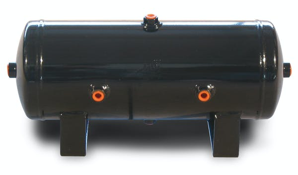 "Air Lift Performance 10980 2 Gal Air Tank- 6"" x 17"" with (6) 1/4"" Ports"