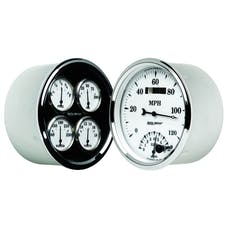 AutoMeter Products 1203 Old Tyme White II Quad Gauge/Tach/Speedo Kit