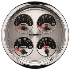 """AutoMeter Products 1212 5"""" Quad (240-33, 100-250, 0-100, 8-18), American Muscle"""