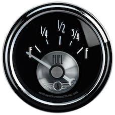 "AutoMeter Products 2014 2-1/16"" Fuel Level 0-90 ohms, SSE, Prestige Black"
