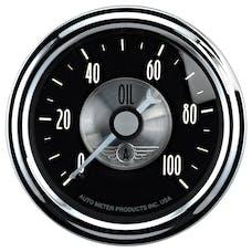 "AutoMeter Products 2022 2-1/16"" Oil Pressure, 0-100 psi, Mech, Prestige Black"