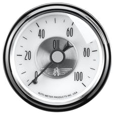 "AutoMeter Products 2023 2-1/16"" Oil Press 0-100 psi Mech, Prestige Pearl"