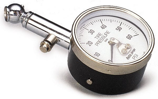 AutoMeter Products 2343 Tire Pressure Gauge  60 PSI