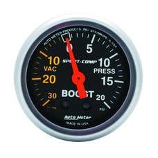 AutoMeter Products 3301 Gauge; Vac/Boost; 2 1/16in.; 30inHg-20psi; Mechanical; Sport-Comp