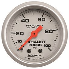 """AutoMeter Products 4326 2-1/16"""" Exhaust Pressure 0-100 psi, mech, Ultra-Lite"""
