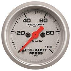 AutoMeter Products 4394 Gauge; Exhaust Press; 2 1/16in.; 100psi; Digital Stepper Motor; Ultra-Lite