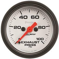 "AutoMeter Products 5794 2-1/16"" Exhaust Pressure 0-100 psi, FSE, Phantom"