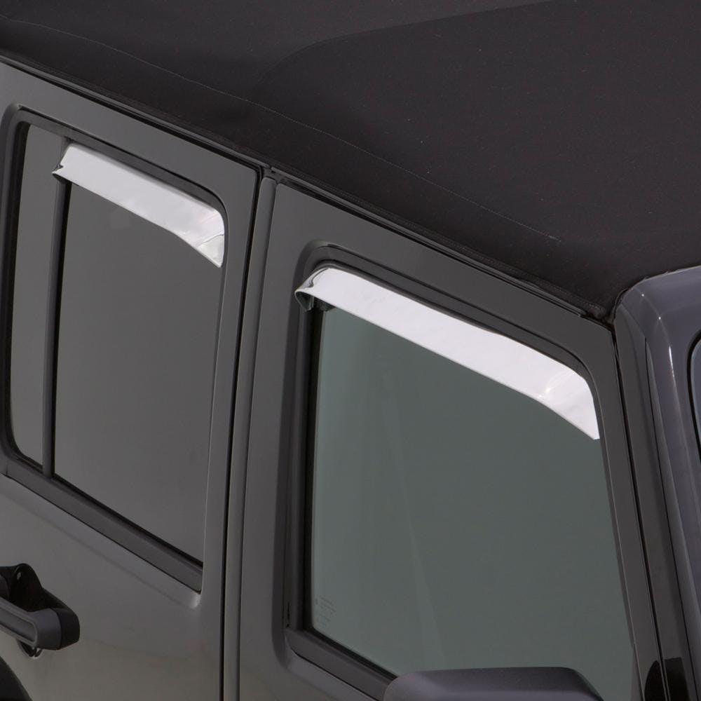 4 Piece Auto Ventshade 14112 Ventshade Stainless Steel Window Deflector