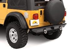 Bestop 42903-01 HighRock 4x4 Rear Bumper with 2'' receiver hitch/roller mounts