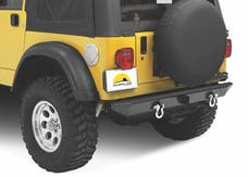Bestop 42903-01 HighRock 4x4 Rear Bumper with 2'' receiver hitch/roller mounts