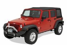 Bestop 42910-01 HighRock 4x4 Front Bumper, Full-width profile