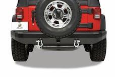 Bestop 42911-01 HighRock 4x4 Rear Bumper with 2'' receiver hitch/roller mounts
