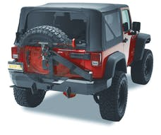 Bestop 42934-01 HighRock 4x4 Rear Bumper with Tire Carrier