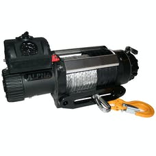 Bulldog Winch 10028 12500lb Alpha Series winch, 100ft Synthetic Rope, Aluminum Hawse Fairlead