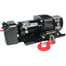 Bulldog Winch 10032 7800lb Trailer Winch, 50' Syn Rope, Hawse Fairlead, Mnt Plate, Low Profile