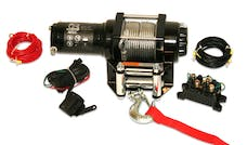 Bulldog Winch 15006 2500lb ATV Winch, with Mini-Rocker Switch, Mounting Channel, Roller Fairlead