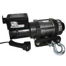 Bulldog Winch 15017 3400lb Trailer/Utility Winch 45' Wire Rope, Hawse Fairlead, Mnt Plate