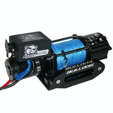 Bulldog Winch 15020 4400lb Trailer/Utility Winch 50' Syn Rope, Hawse Fairlead, Mnt Plate