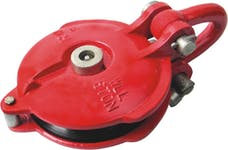 """Bulldog Winch 20028 Snatch Block 30k BS, 12k WLL, 6"""" wheel, zerk"""